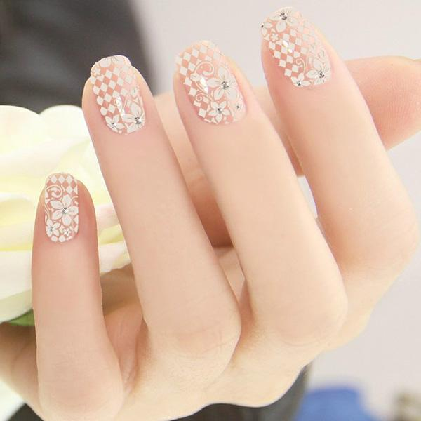 New DIY Nail Sticker (Lace Flower)