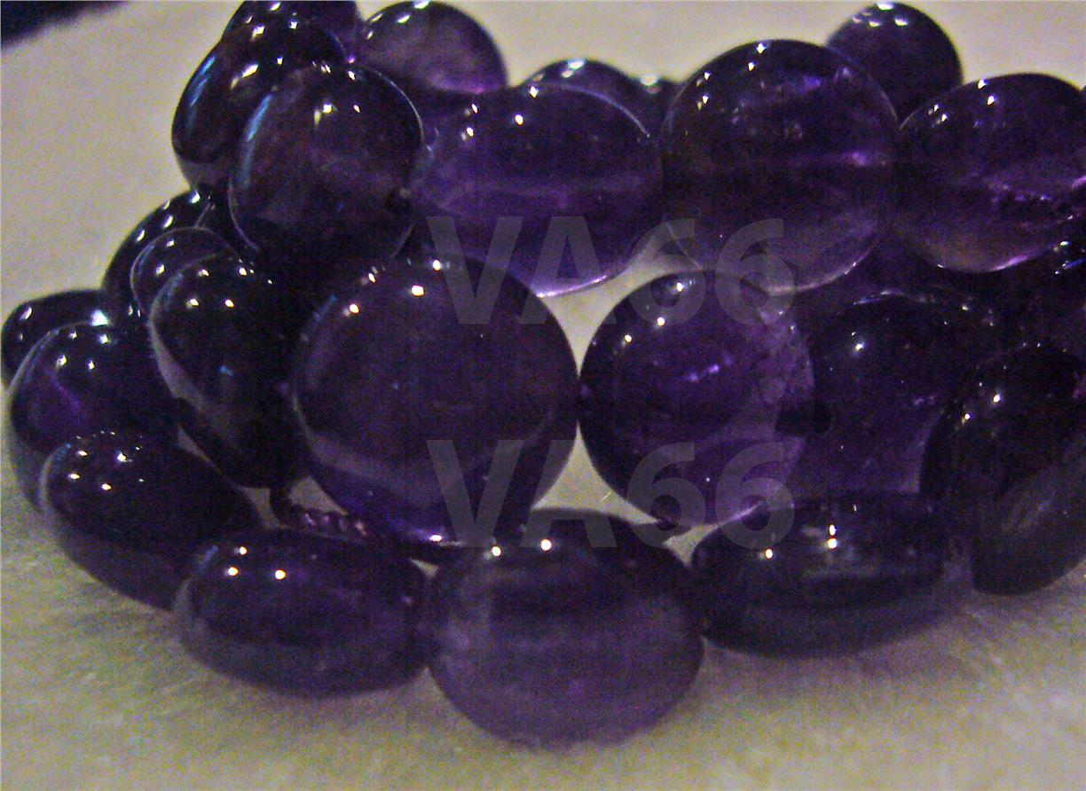 DIY Natural Amethyst Purple Smooth Cabochon 9mm Gemstone Disc Batu Asl