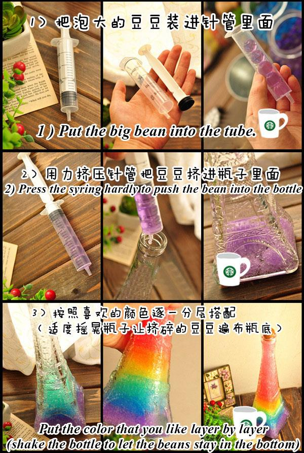 DIY Nebula Rainbow Wishing Bottle Set