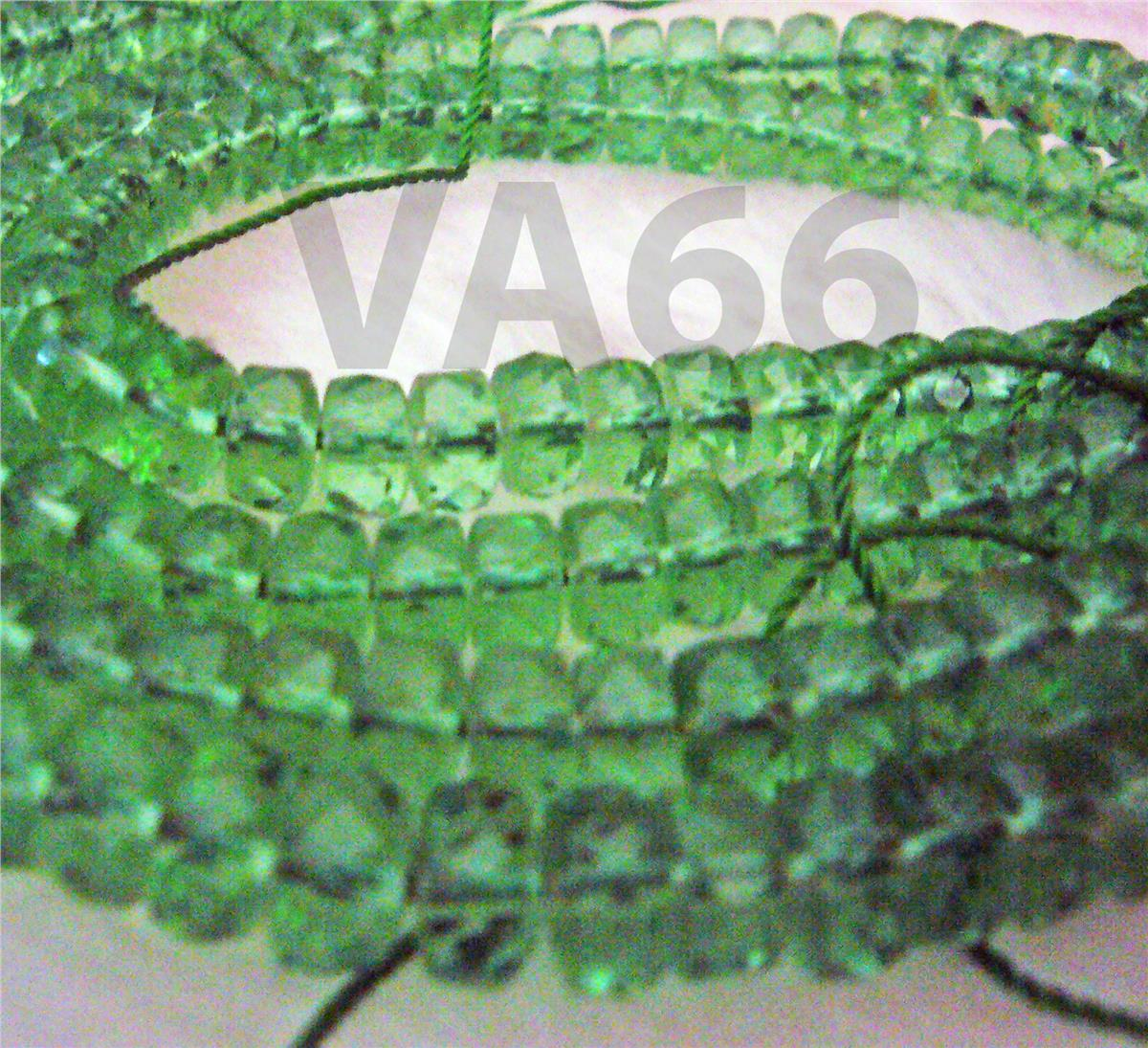 DIY Peridot Green Obsidian Facetted Wheel 7mm Gemstone Disc Donut Bead