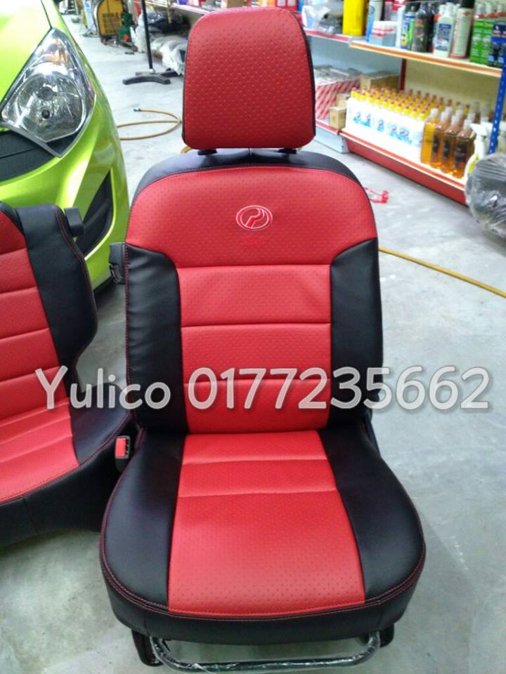 DIY PVC PU LEATHER Car Seat Cover Cushion For Proton Juara 11 2001