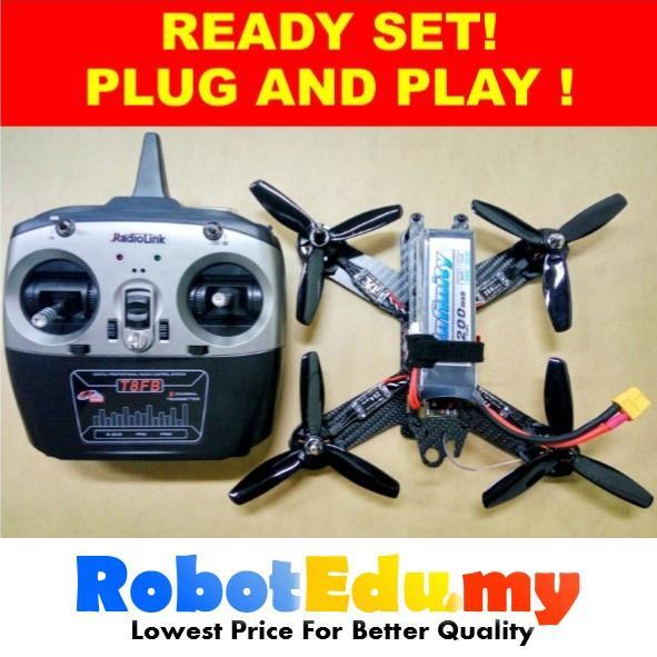 Diy racing drone quadcopter fpv qav end 12302018 315 pm diy racing drone quadcopter fpv qav210 rtf plug play starter kit set solutioingenieria Image collections