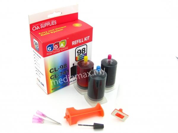 Diy Refill Kit Goa Cl 98 For Canon 741