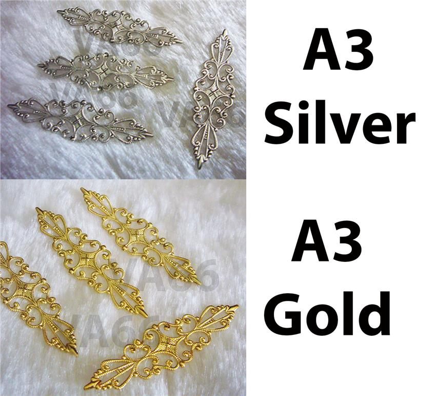 DIY Silver Gold Filigree Lace Exte (end 12/17/2017 11:25 PM)
