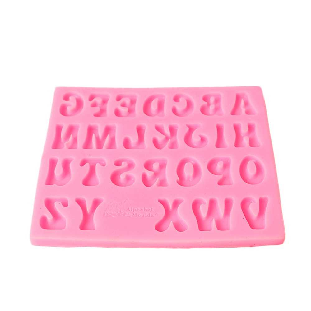 DIY No Stick Cake Letter Mold Chocolate Fondant Decorating Tool Silicone Bakin
