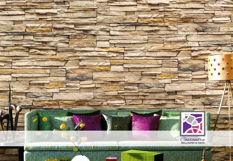 DIY Wallpaper With Brick Outdoor Modern (Not Sticker)