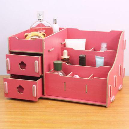 diy wooden cosmetic organizer box end 6 15 2019 6 15 pm. Black Bedroom Furniture Sets. Home Design Ideas