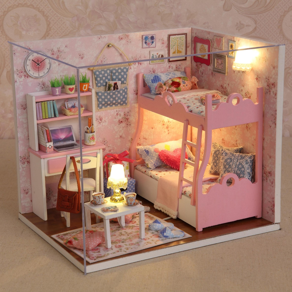 (DIY WOODEN HOUSE KIT) CUTEROOM H - 012 - A DIY Wooden House Furniture..