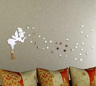 DIYcreative Home Acrylic Mirror Art Sheet Home Depot Wall Decals Fairy