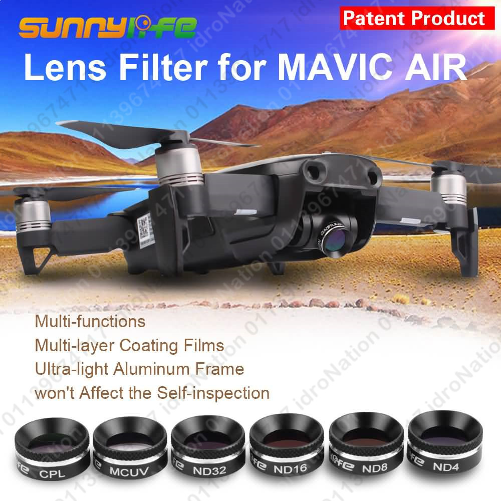 DJI Mavic Air Camera Lens Filters UV CPL ND4 ND8 ND16 ND32 Sunnylife