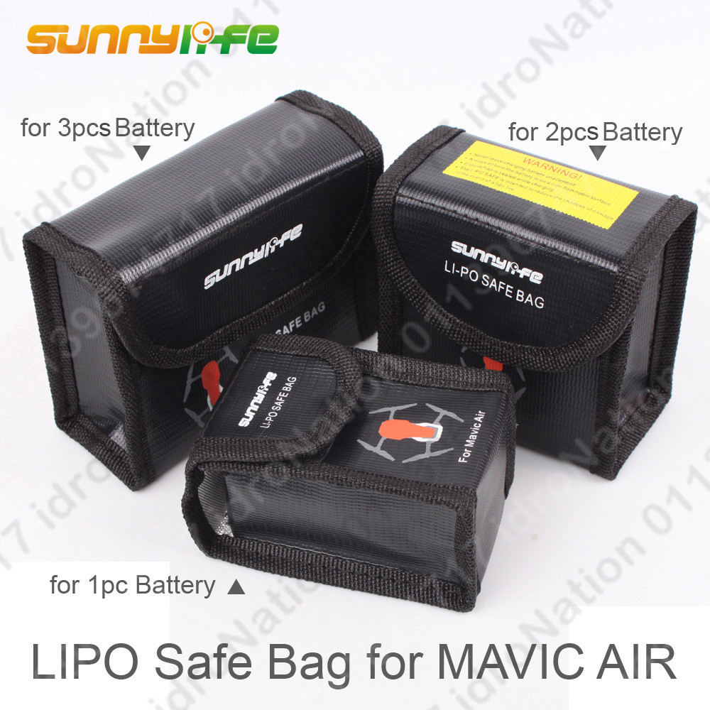 DJI MAVIC Air LiPo Li-Po Battery Charging Bag Fireproof Safety Guard S