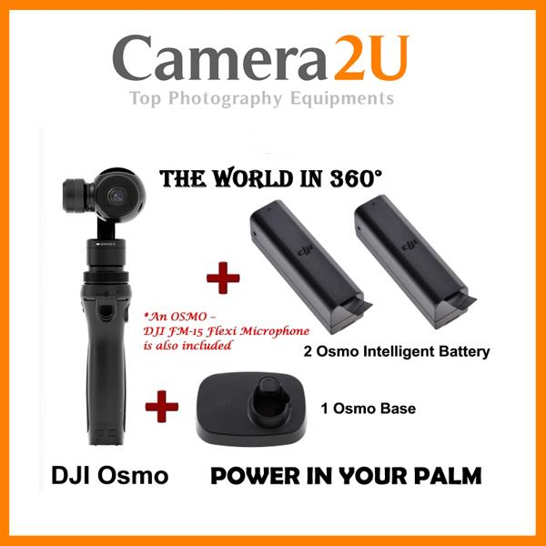 Dji Osmo (FOC MIC + 2 Extra battery+1 base)