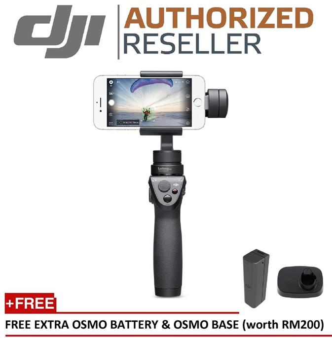 DJI OSMO Mobile Stabilized Gimbal FREE Extra Battery & Osmo Base