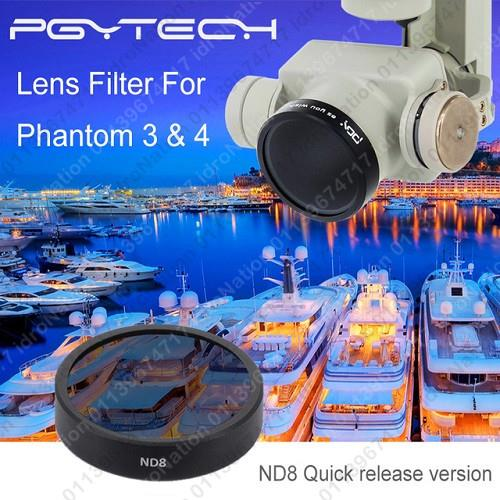 DJI Phantom 3 4 Camera Lens Filter Filters PGYTECH UV CPL ND4 ND8 ND16