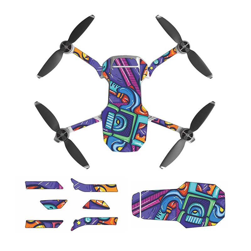 Dji Royal Mavic MINI Stickers For Full B - [A#STICKER BLUE,MAVIC MINI]