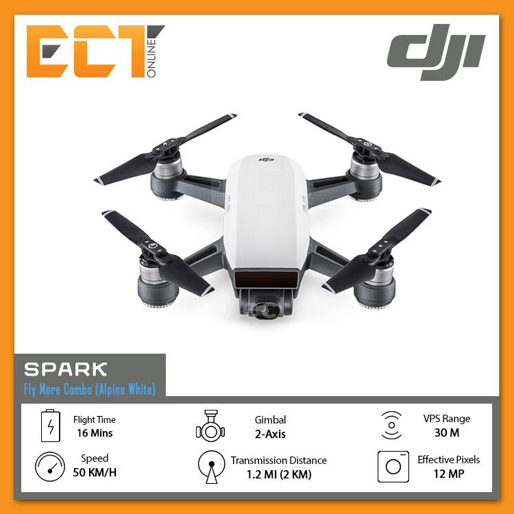ophalen ga online hete verkoop online DJI Spark Drone Fly More Combo (EU) - Alpine White/ Lava Red
