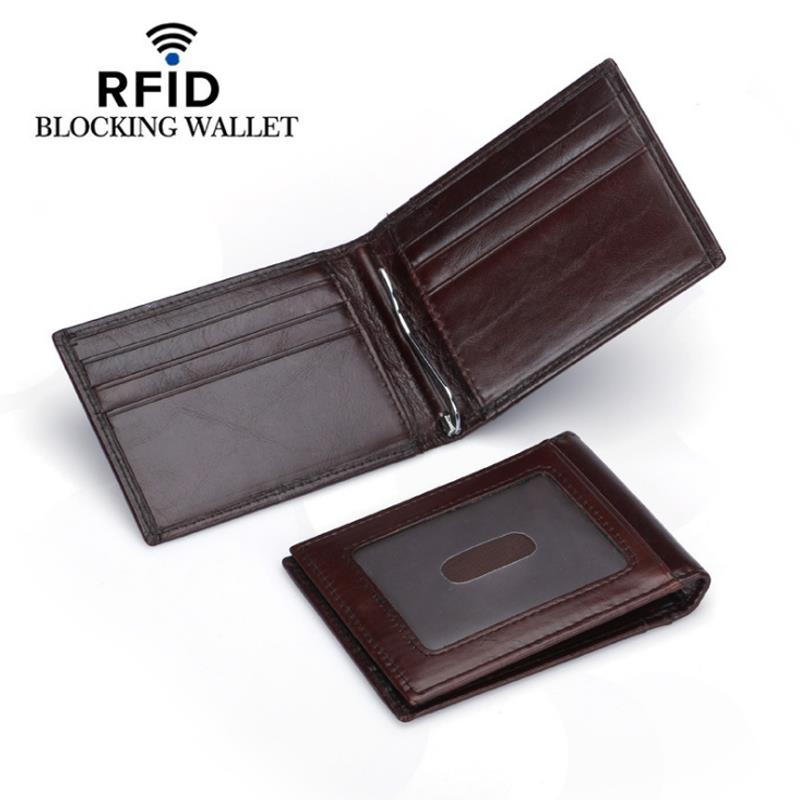 209e44fa306d DKER Men RFID Leather Money Clip Wallet Slim Credit Card Holder