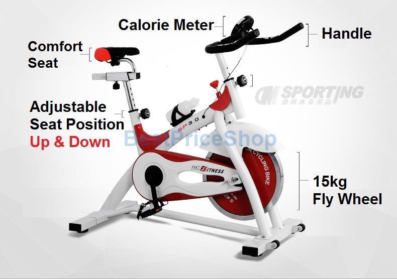 DM 15kg Flying Wheel Spinning Bicycle Slim Cycling Exercise Gym Bike