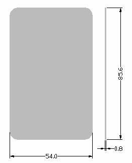 DMC001 Door Access Mi Fare ( IC ) Contactless Smart Card ( Thin )