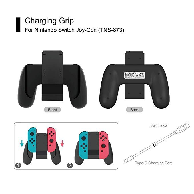 Image result for Switch Joy-Con Charging Grip (Battery Inside) TNS-873