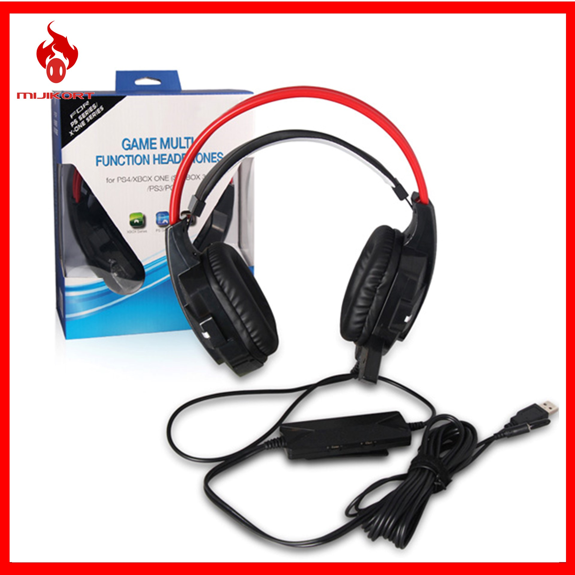 DOBE Wired Gaming Headset For PS3/PS4/PC/Xbox One/Xbox 360. ‹ ›
