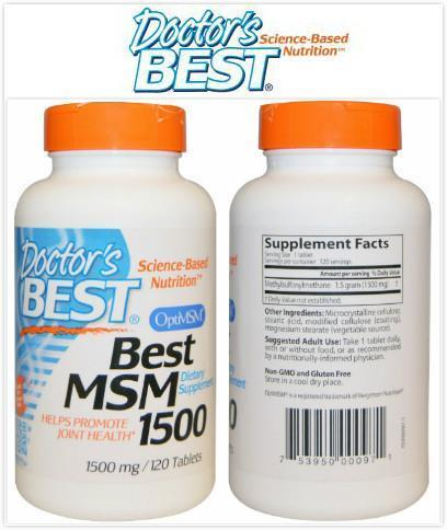 Doctor's Best, Best MSM 1500, 1500 mg (120 Tablets)