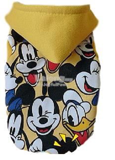 Dog Clothes / Apparel : Disney Icons Hoodie Small