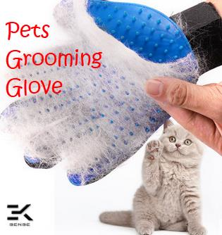 Dogs and Cats Fur Comb Massage Glove Pets grooming glove
