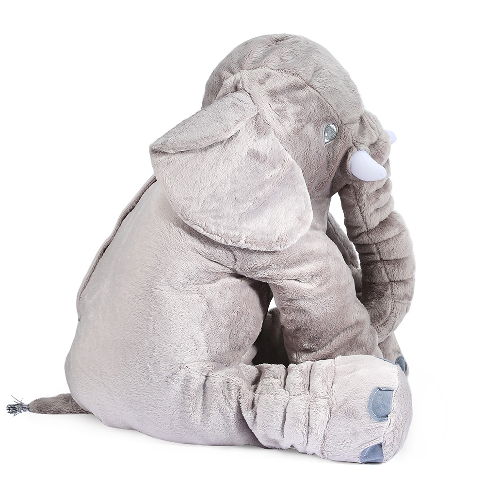 (DOLL TOY) Stuffed Lovely Simulation Giant Elephant Plush Doll Toy Pil..