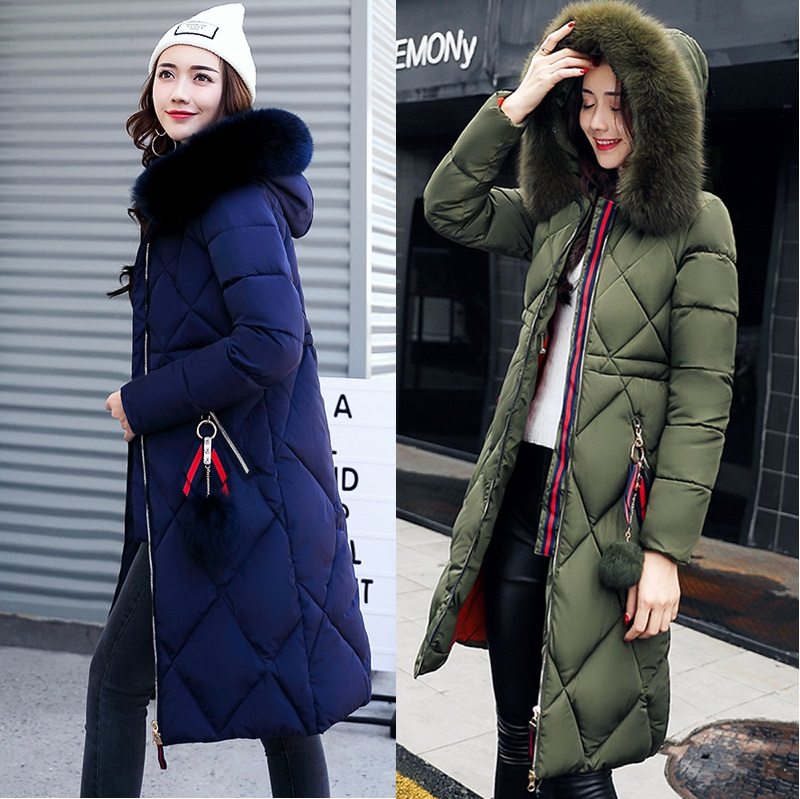 DOLLYPOODY Nagymaros Collar Lozenge Long Winter Coat Jacket