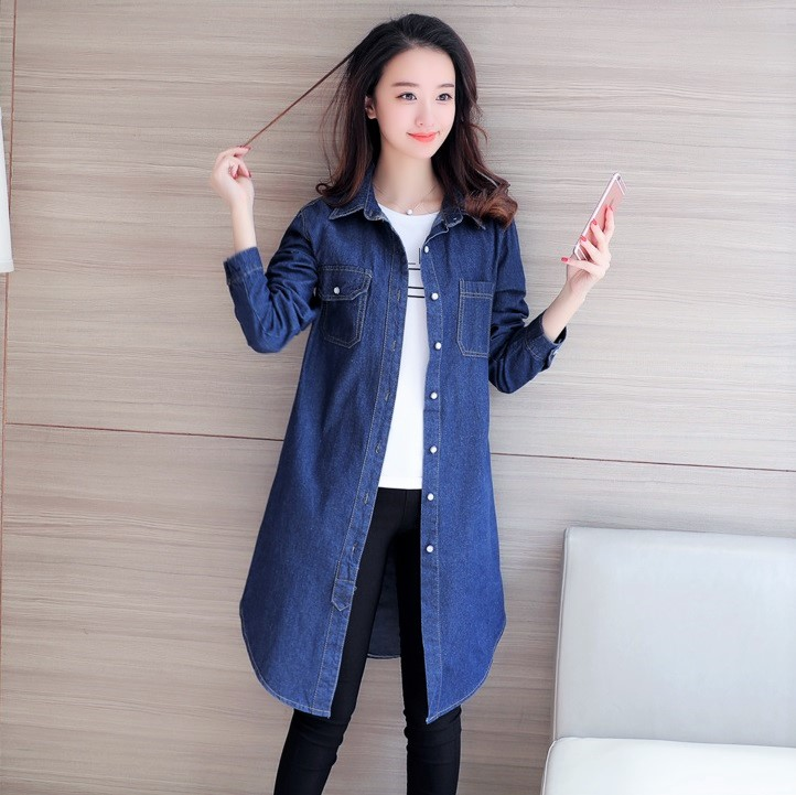 DOLLYPOODY Women Long Sleeve Denim S (end 2 14 2020 6 20 PM) bcc6d4a99e