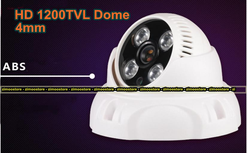 Dome CCTV Camera 1200TVL 3.6mm BNC Analog