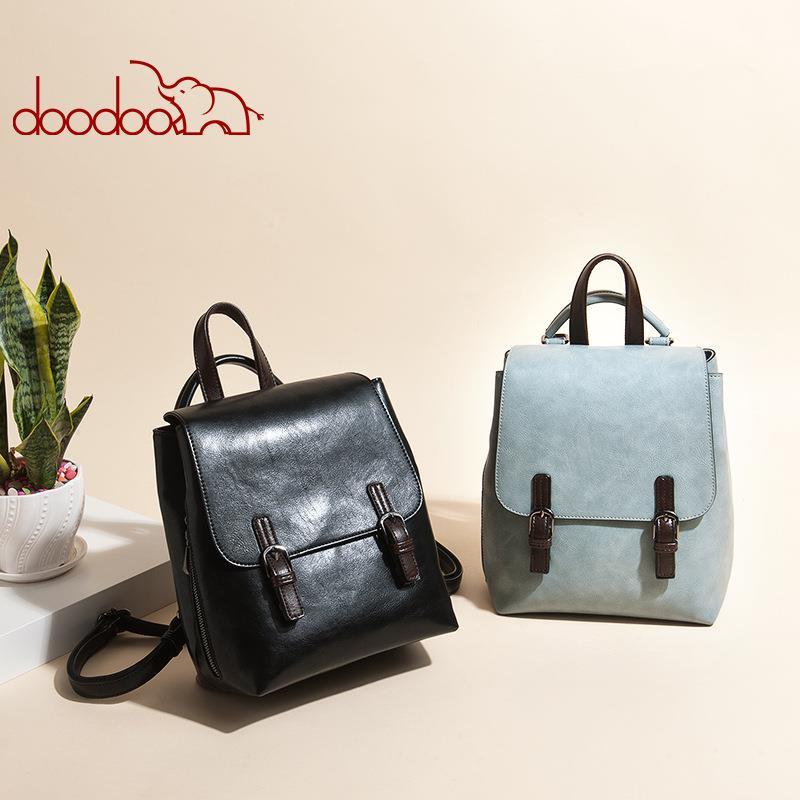 Doodoo 7141 Women Fashion Crossbody Bag Shoulder Backpack Handbags