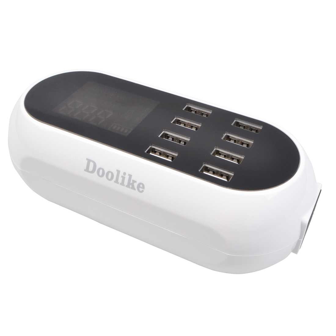 Doolike DL-CH18 Surge Protector 8 USB Ports Power Strip LCD Screen