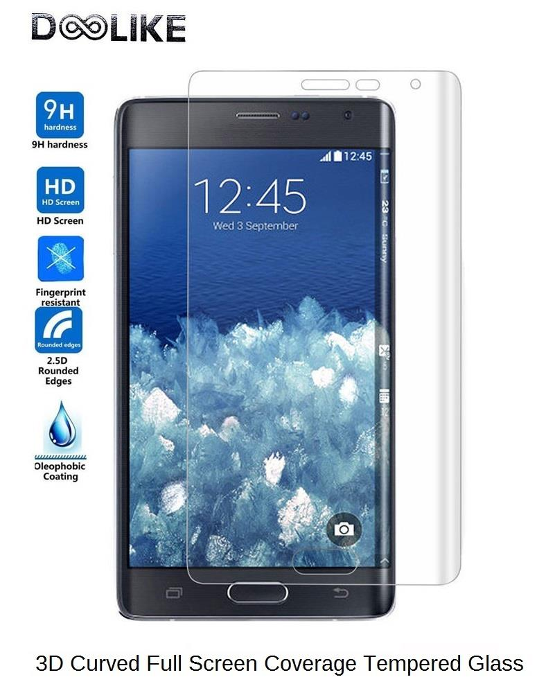 DOOLIKE Galaxy Note Edge 3D Curved Full Screen HD Tempered Glass