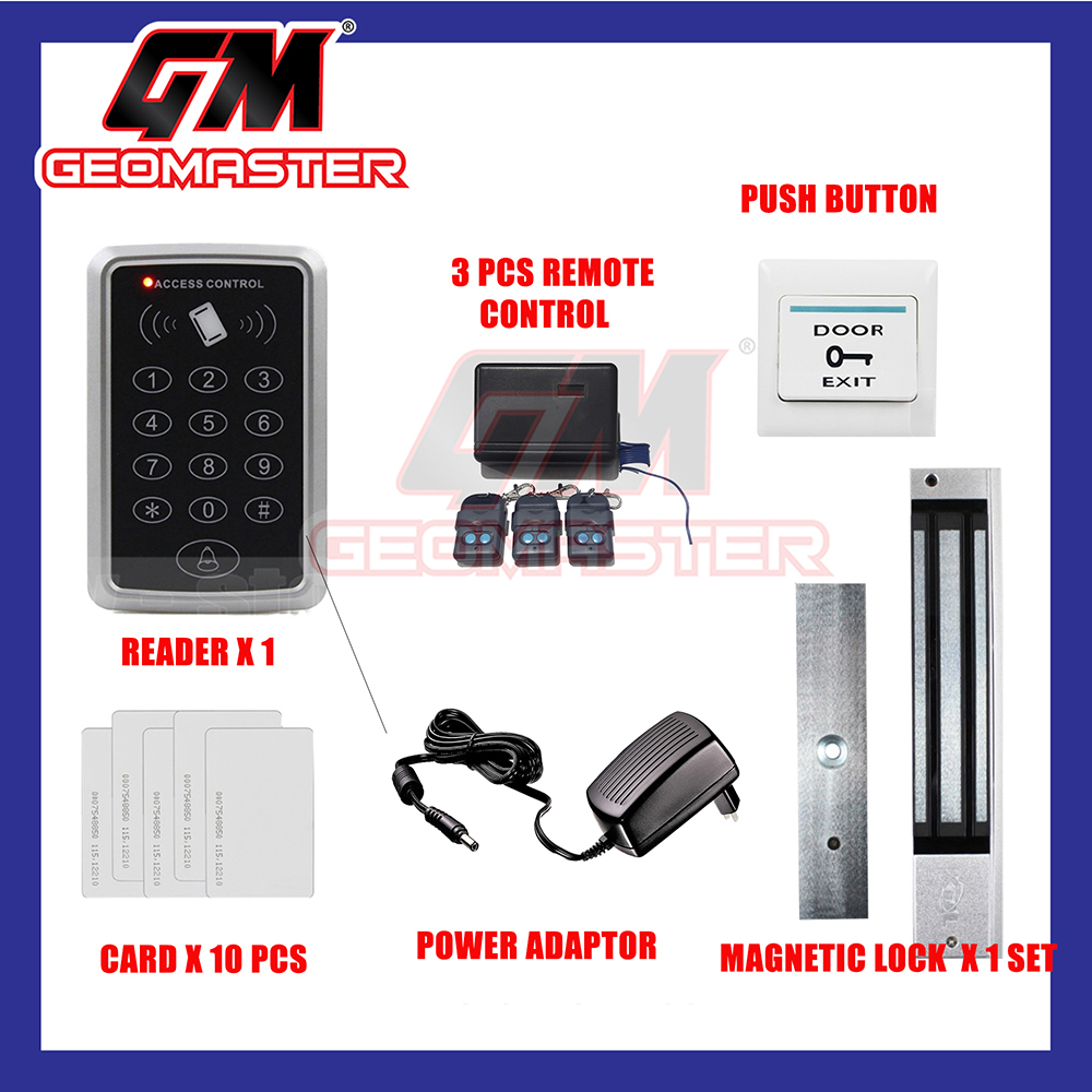DOOR ACCESS CARD SYSTEM WITH REMOTE + 10 YEARS WARRANTY