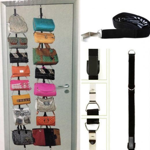 door bag organizer metal wire over the door purse storage purse rack metal hanging