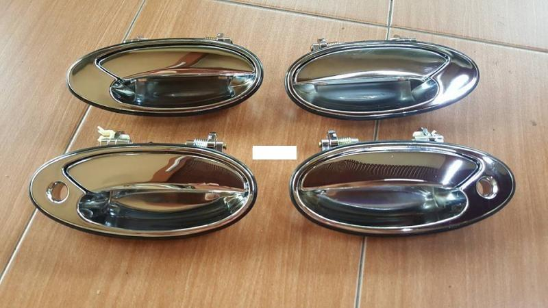 DOOR HANDLE CHROME WIRA FULLSET