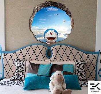 Doraemon cartoon 3d waterproof wall end 7292018 1215 pm doraemon cartoon 3d waterproof wallpaper 60cmx60cm voltagebd Images