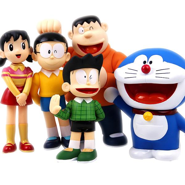 Doraemon family figurines set big end  pm