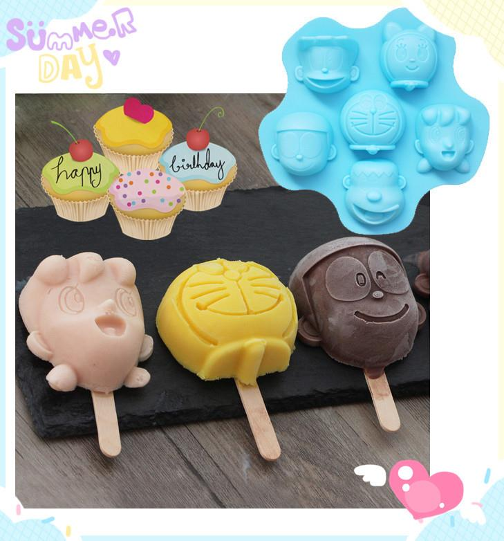 Doraemon Stand By Me Cake Icecream Silicon Mould