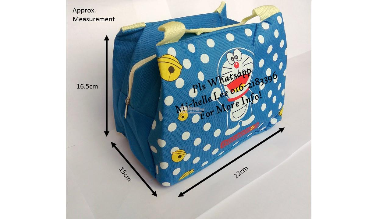 Doraemon Thermal Insulated Child Lunch Cooler Bag Breastmilk Ice Pack