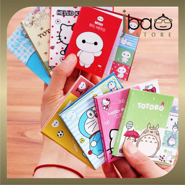 Doraemon Totoro Kitty Baymax Memo pad / Sticky Note / Label / Masking-it