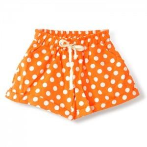 Dot-dot Loose Shorts (Orange)