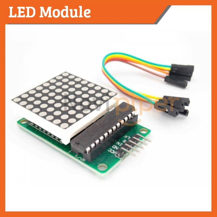 Dot Matrix 8x8 Red LED Module MAX7219