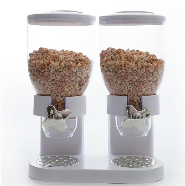 Double cereal dispenser dry food sto end 4222017 515 pm double cereal dispenser dry food storage container home hotel cafe ccuart Image collections