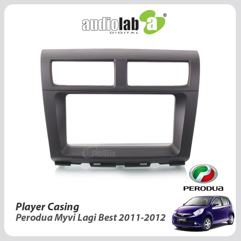 Double Din Car DVD Player Casing For Perodua Myvi Lagi Best 2011-2012