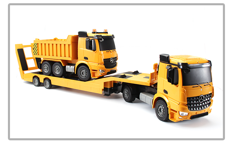 Double E RC Truck 1:20 Scale 2.4G Flatbed Semi-Trailer Engineering