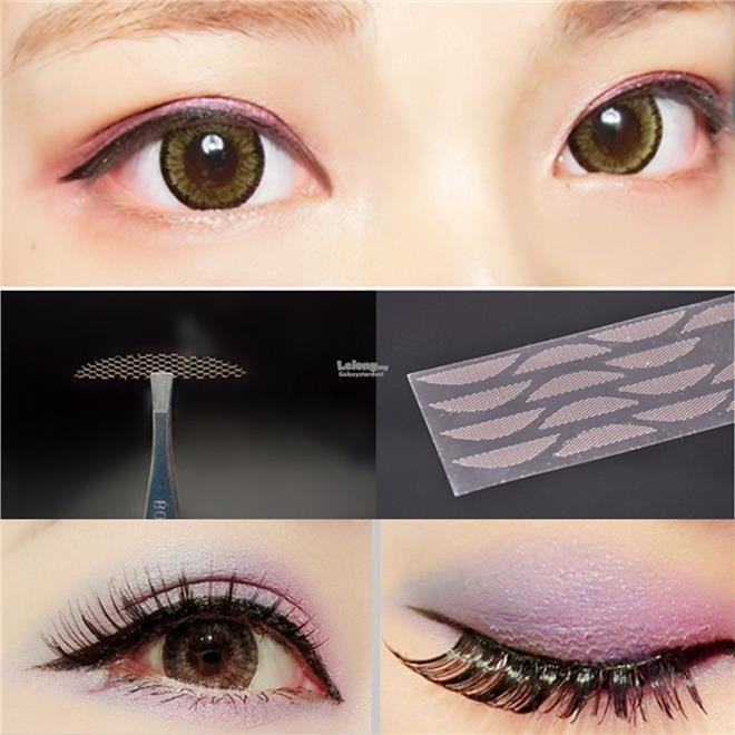 Double Eyelid Tape,S,L,XL,Skin Texture Mesh Lace 肤色ŕ..