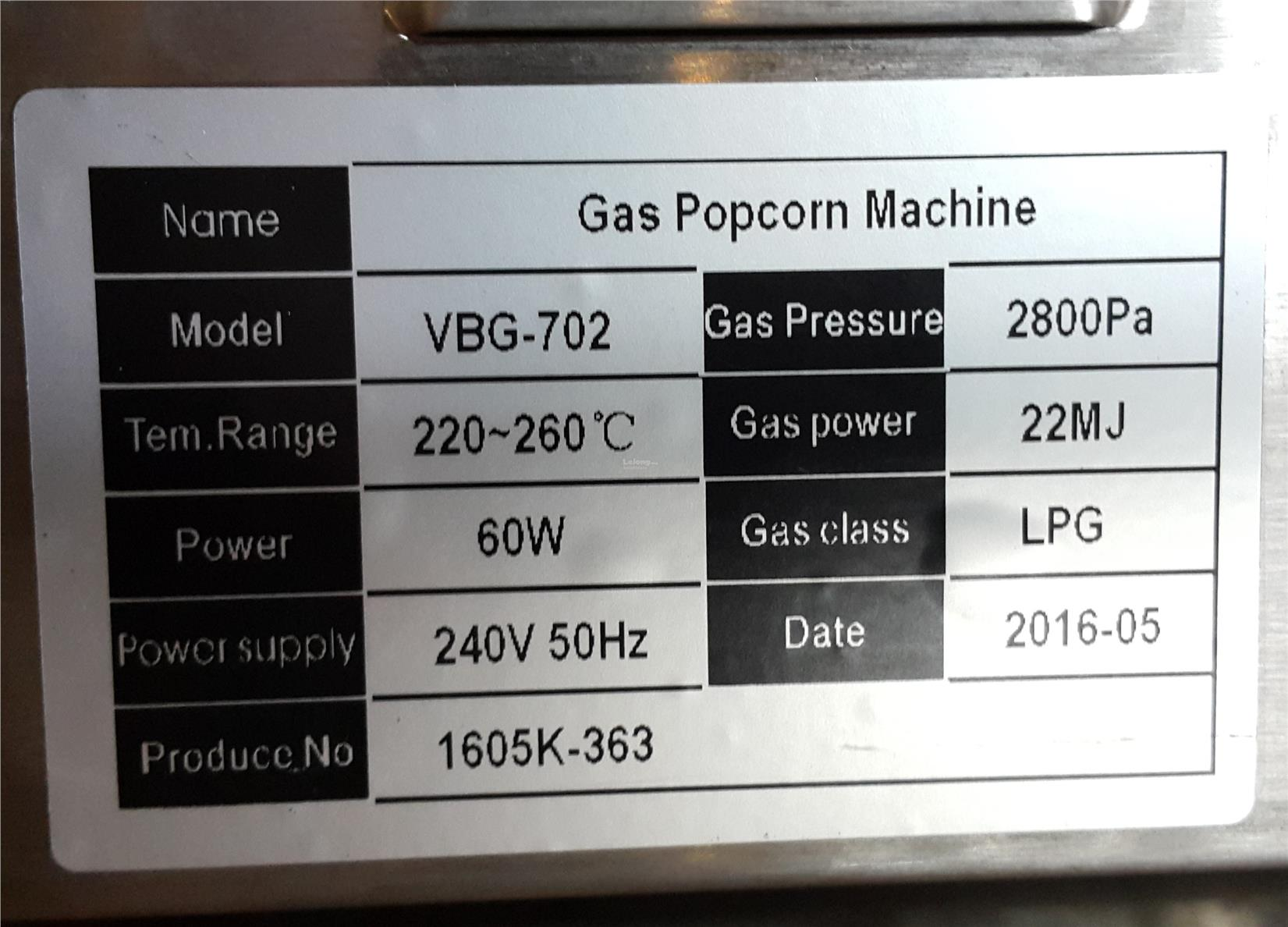 Double Head Gas Popcorn Machine ID889178